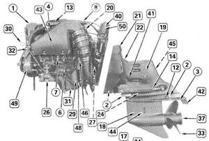 1993 omc cobra stern drives 4 3 ho parts catalog manual factory oem rh ebay com OMC Cobra Outdrive Oil Cobra Outdrive Repair Manual