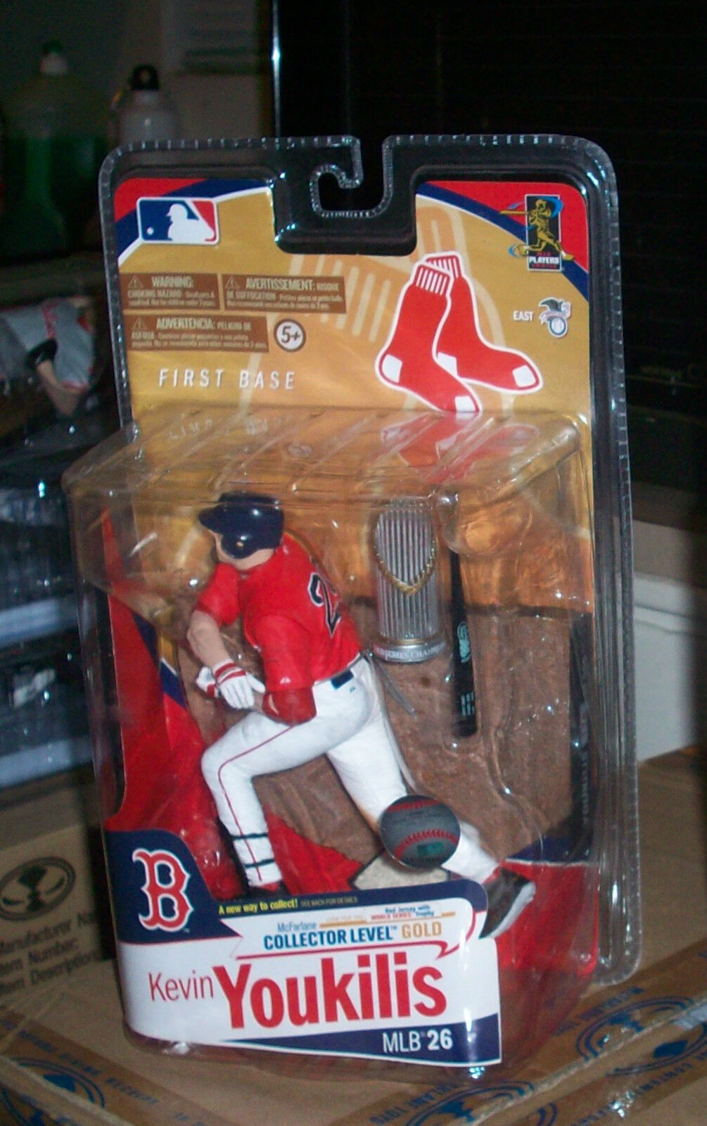 McFARLANE MLB 26 KEVIN YOUKILIS ROT SOX COLLECTORS LEVEL CL VARIANT CHASE FIGURE