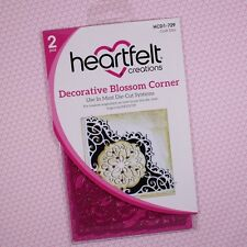 Heartfelt Creations Cut&Emboss Dies By Spellbinders ~ Blossom Corner, HCD 729 ~