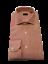 Camicia Uomo artigianale a righe bianco rosse collo francese cotone