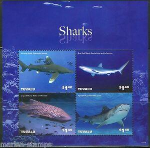 TUVALU-2014-SHARKS-SHEET-MINT-NH