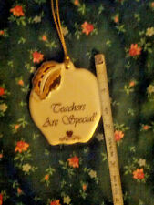 Lenox Apple   Teachers Are Special    Ornament  Fine China Gold Trimmed