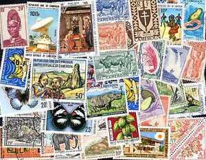 DéLicieux Cameroun Collections De 25 à 600 Timbres Différents