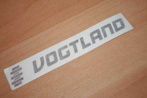 Aufkleber Sticker schwarz #35 VOGTLAND mit LOGO als einzelne Buchstaben NEU