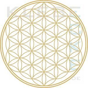 wandtattoo blume des lebens flower of life lebensblume ebay. Black Bedroom Furniture Sets. Home Design Ideas