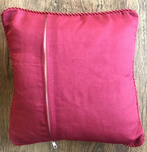 1 Small Red /& GOLDEN Cream Throw CUSHION COVER POLYESTER//Silk LIVING ROOM Floral