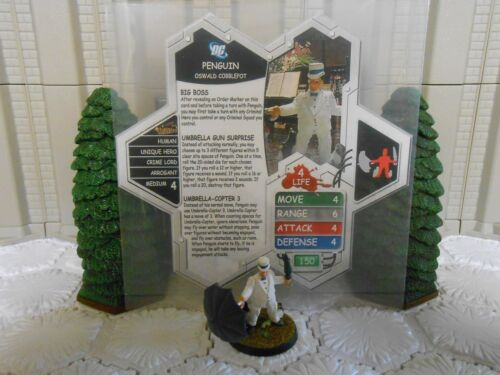 Heroscape Custom Penguin Double Sided Card & Figure w/ Sleeve DC