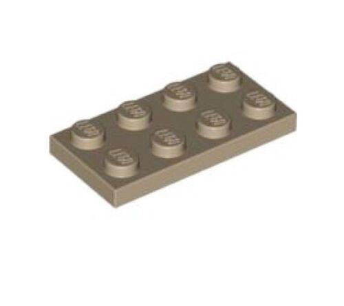 Plaque FONCE BEIGE DARK Plate 2x4-4267874 3020 Lot x6 Lego