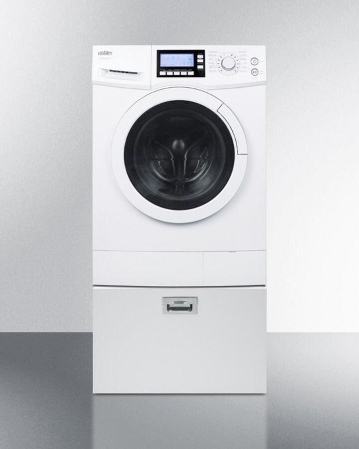 Summit Combo Washer Dryer Ventless 120 Volt With Pedestal Drawer