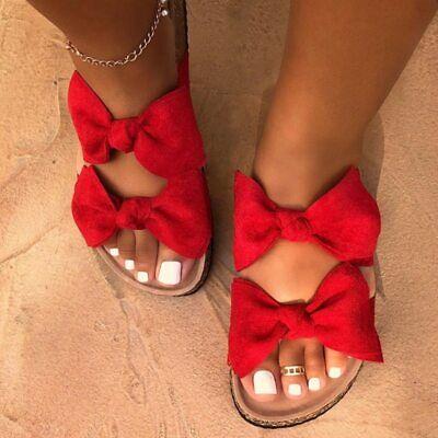 2020 Sandalias Para Mujer Sandalias Planas De Verano Zapatos De Playa Ebay