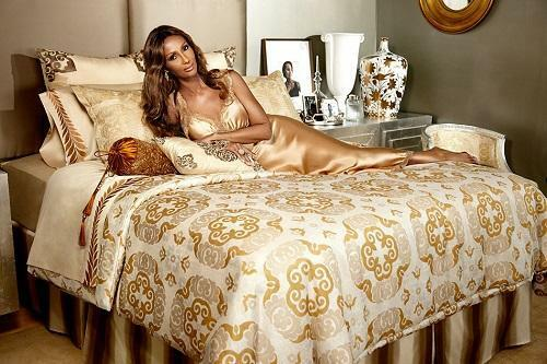Iman Home Hollywood Collection 4-Pc Queen Sheet Set + 2 Decorative Pillows New