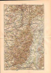 Map-Carte-LES-VOSGES-FRANCE-GRAVURE-ANTIQUE-OLD-PRINT-1880