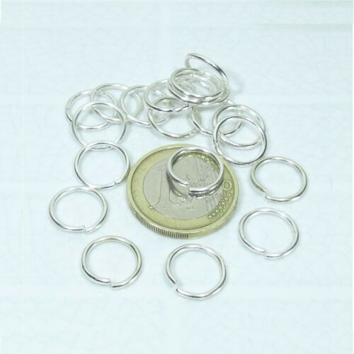 240 Anillas Abiertas 12mm  T208C  Open Jump Rings Anello Perline Beads Anneau