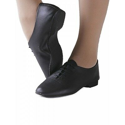 Black Leather Full Sole Jazz Shoes Childs /& Ladies by Dance Gear JSRB