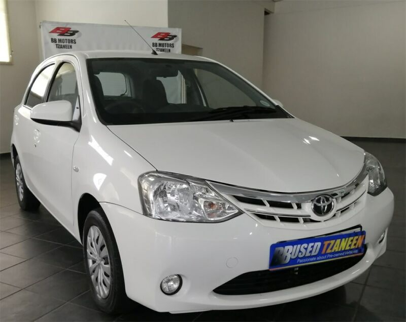 White Toyota Etios 1.5 Xs 5-door with 64000km available now!
