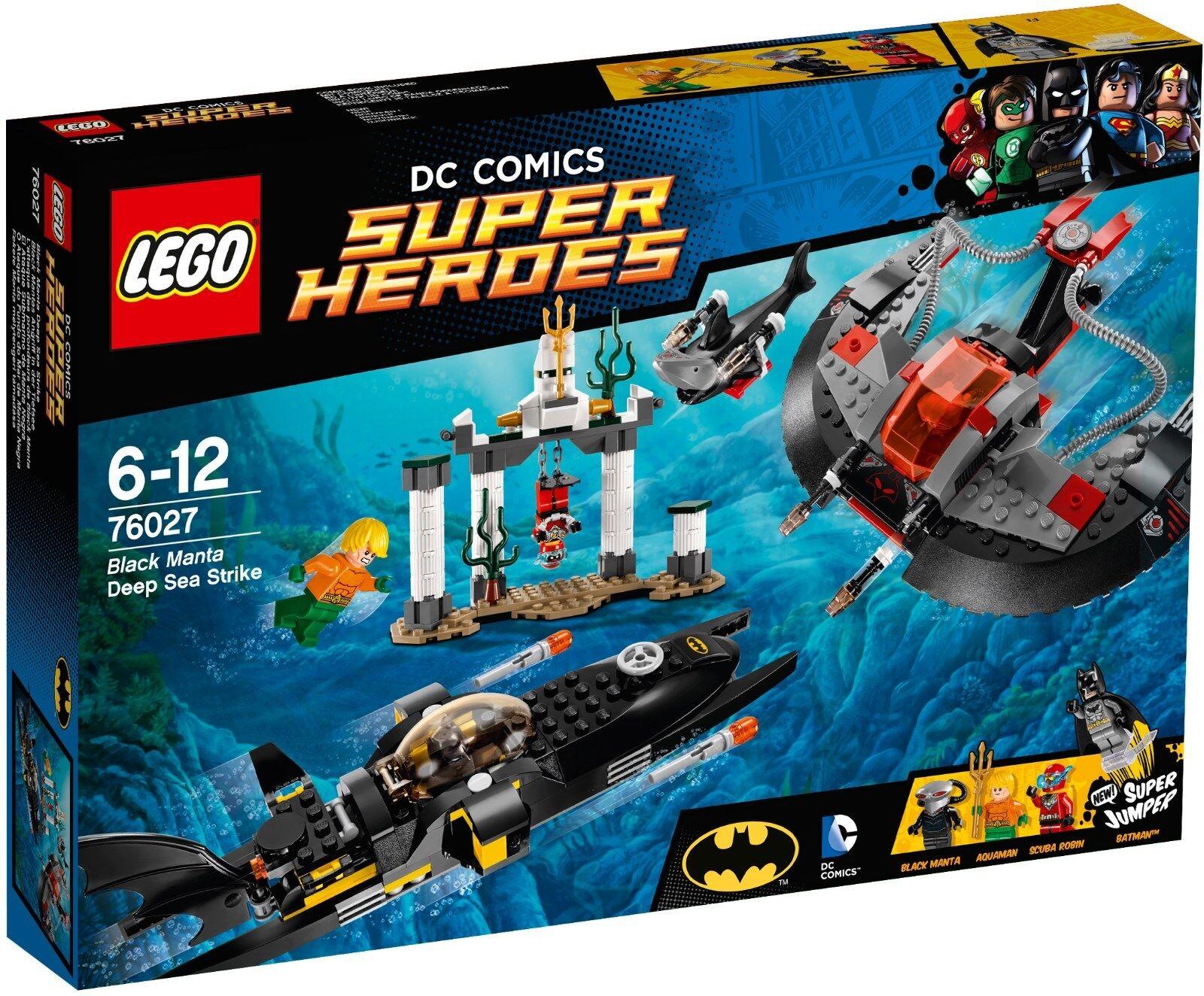 LEGO SUPER HEROES DC COMICS schwarz MANTA DEEP SEA STRIKE 76027 - NUEVO SIN ABRIR