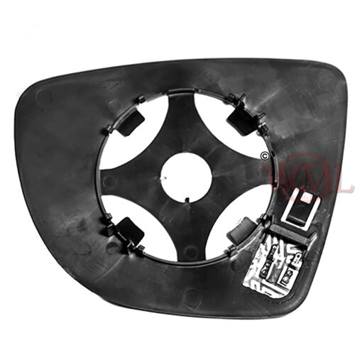 RENAULT CAPTURE 2013/>2019 DOOR//WING MIRROR GLASS SILVER,HEATED /& BASE,RIGHT SIDE