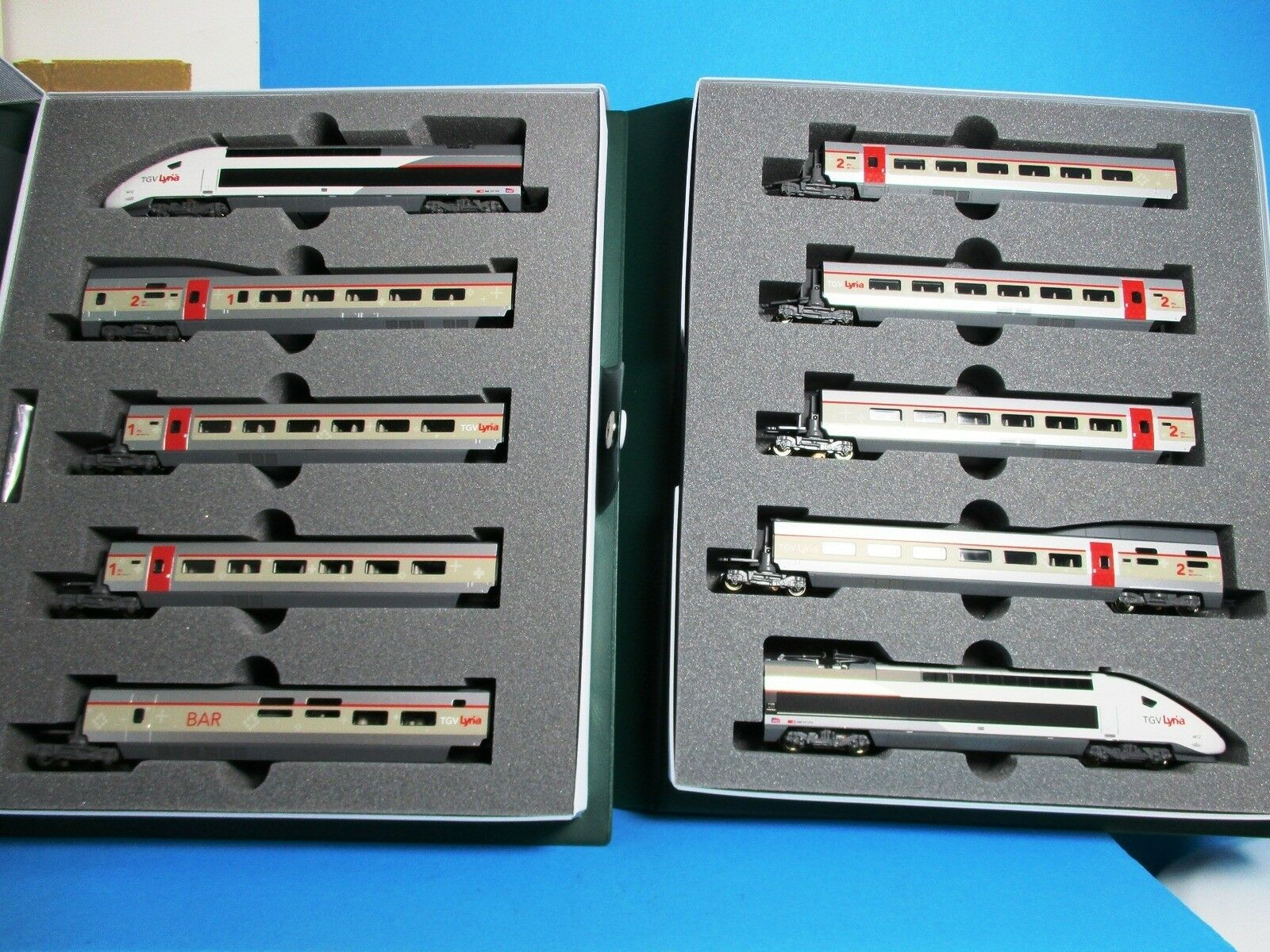 Kato k10-1325 SBB/SNCF TGV Zugset Lyria 10 pezzi, ANALOGICO, NUOVO, OVP, NEM, M 1:160,