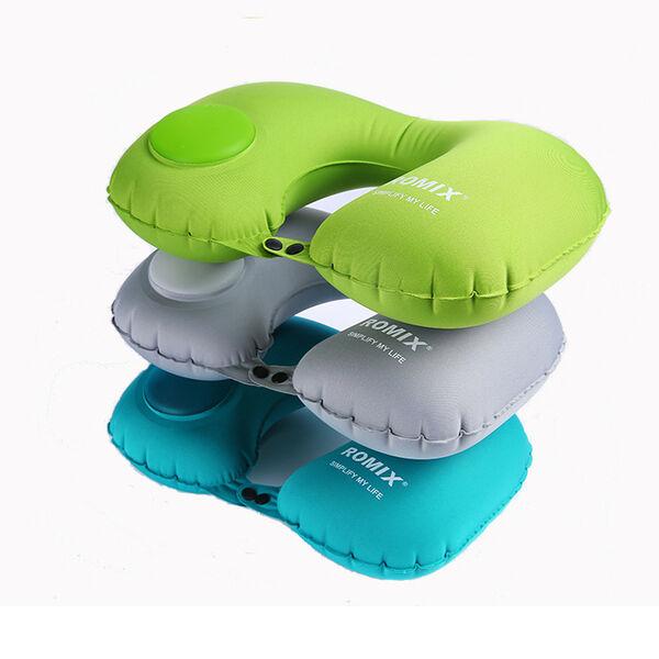 Gonflable U forme Oreiller Cou Tête Repos Air Pli Soft Cushion Pli Air Pour Voyage Avion 6bd476
