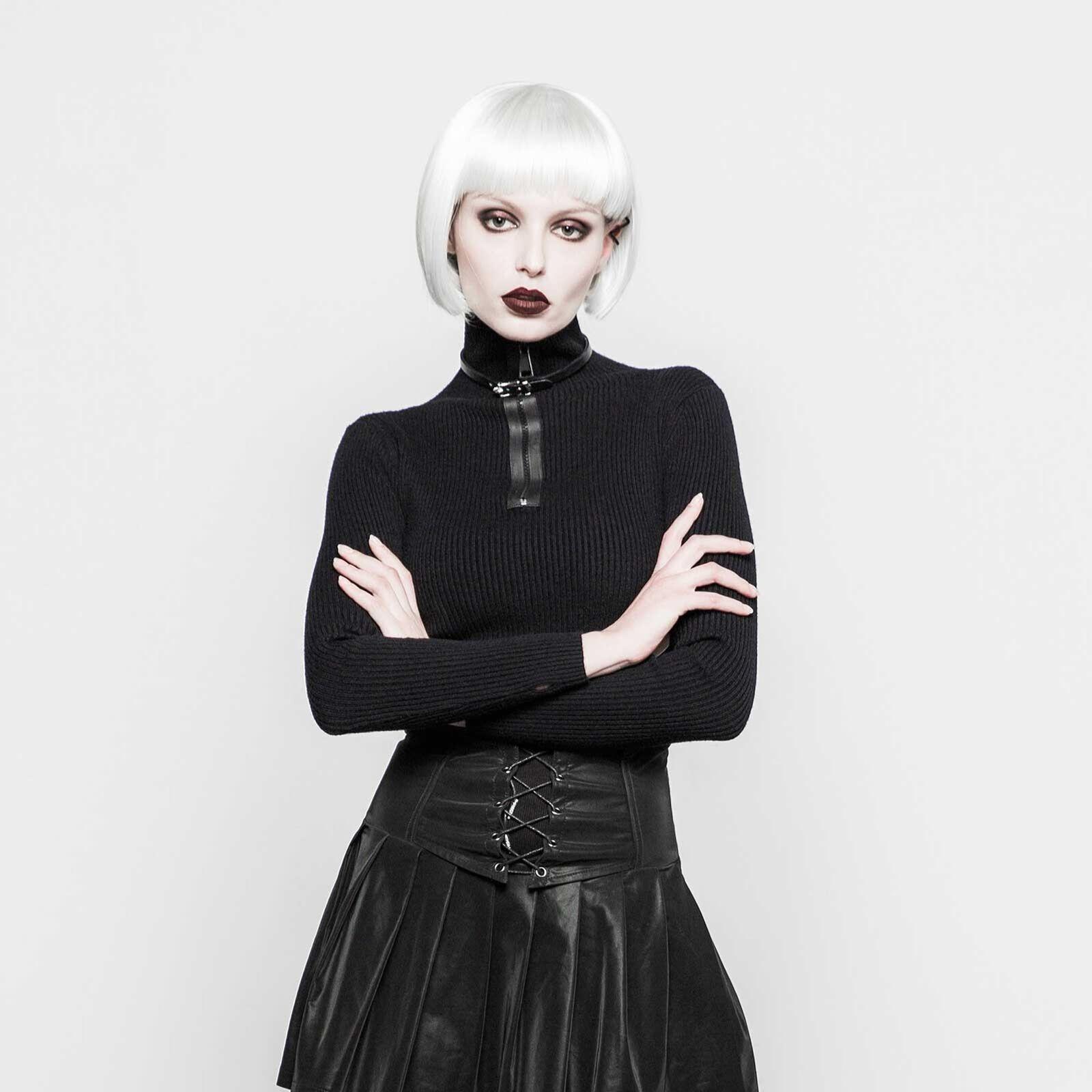 Punk Punk Punk Rave collo alto-Pullover da donna nero collo alto m. RV TURTLENECK nero 7f855f