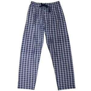 Pantalon-Pijama-Hombre-Cuadros-Casa-Caballeros-Largo-Azul-Primavera-Ligero-Ropa