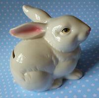 Belle Tirelire Lapin Porcelaine Blanche Bunny Idéal Cadeau Déco Enfant Blog