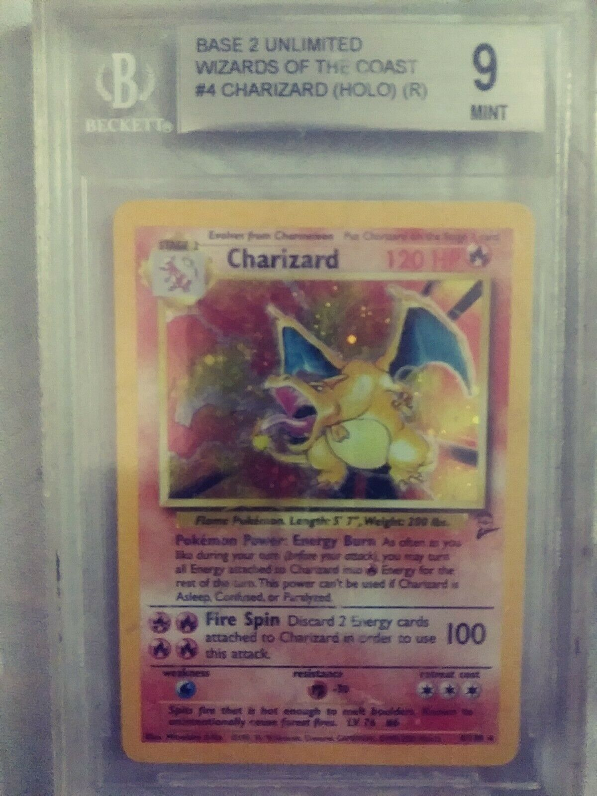 Charizard Base 2 Unlimited Unlimited Unlimited Wizards Of The Coast Holographique 9 Mint Pokemon 35d6bf