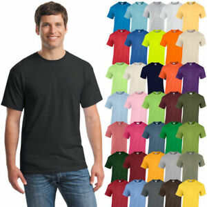 Gildan-Mens-Plain-T-Shirts-Solid-Cotton-Short-Sleeve-Blank-Tee-Top-Shirts-S-3XL