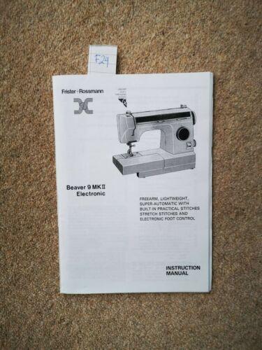 Manual Original//libro de instrucciones FRISTER /& Rossmann Máquina de Coser Muchos Modelos