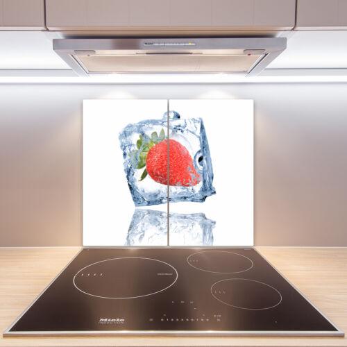Cuisinière-Casing Verre Ceranfeld-couvercle DECO fraise à glaçons 2x30x52 cm