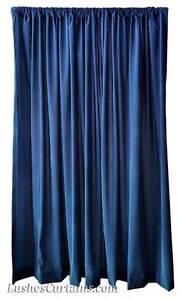 12 ft Extra High Long Navy Blue Velvet Curtain Panel Tall Event Backdrop Drape