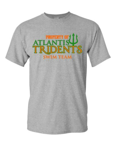 Atlantis Tridents Swim Team Aquaman DC Comics Property Of T-Shirt Free Shipping!