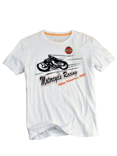 Alpha Industries T-Shirt Motorcycle T Weiß  5171