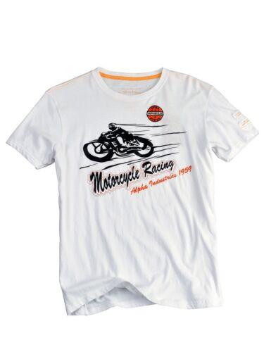Alpha Industries T-Shirt Motorcycle T Weiß  5171