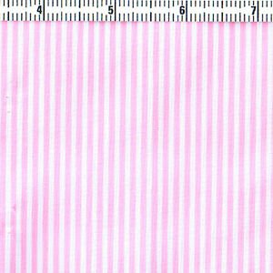 Polyester-Cotton-Blend-Fabric-Cosplay-Dressmaking-2mm-Pink-Stripe-on-White-44-034-W