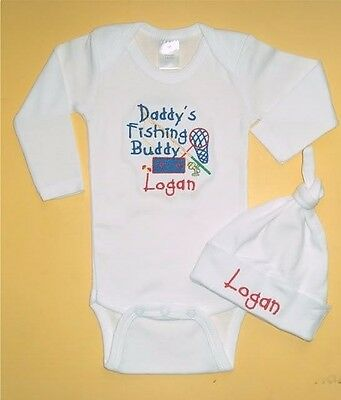Personalized baby bodysuit Daddy/'s fishing buddy boy/'s personalized shirt fishing shirt