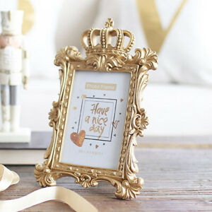 Gold-Crown-Resin-Picture-Photo-Frame-Baroque-Luxury-Style-Home-Decor