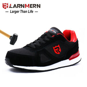 diseñador de moda 19a39 1f7f5 Details about LARNMERN Steel Toe Work Safety Shoes Men Casual Breathable  Outdoor Sneakers