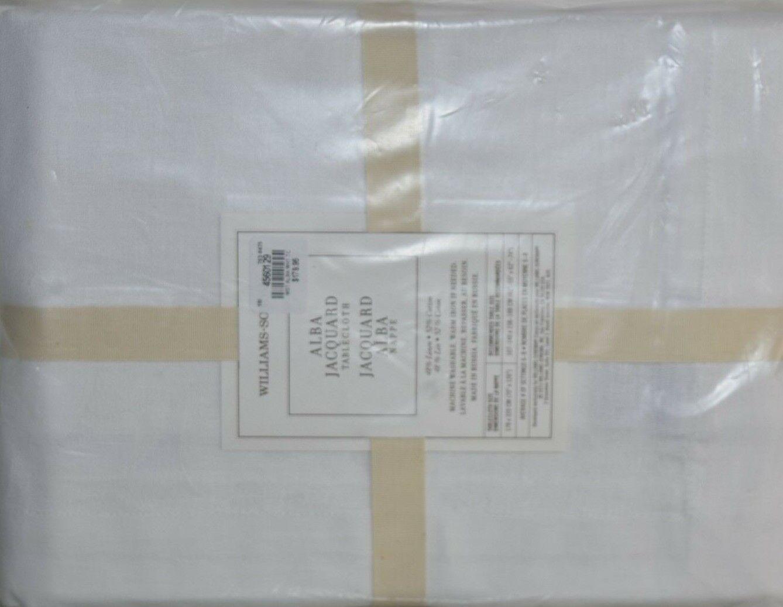 179.95 Nouveau Williams Sonoma ALBA JACQUARD Nappe Blanc 70 x 126