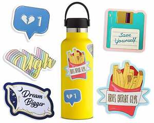 Details about Cute Blue Aesthetic Stickers for Water Bottles 5 Pack , for  Hydro Flask Tumbler
