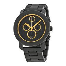 Movado Bold  Chronograph Black Dial Black TR90 Mens Watch 3600275
