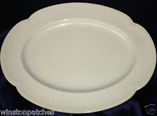 """JOHNSON BROTHERS GREENDAWN 12 3/8"""" OVAL SERVING PLATTER ALL CELADON GREEN"""