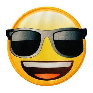 76ce1fa28cf19 ... Motif-thermocollant-ecusson-Patch-Emoji-avec-lunettes-de-