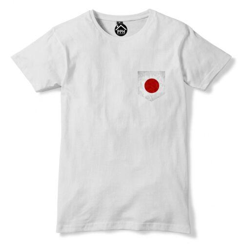 Vintage Print Pocket JAPAN Tshirt Football Rugby Asia Sport Sushi T Shirt 304