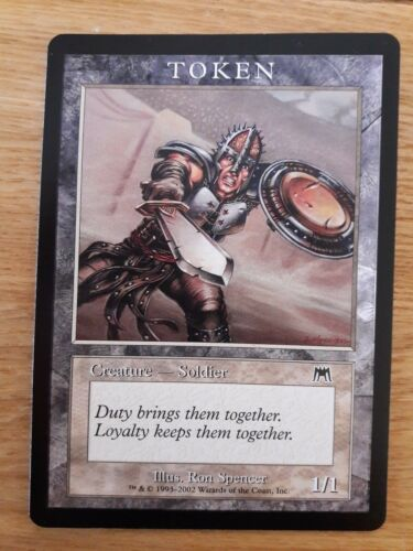 Onslaught Magic The Gathering Cards Soldier Token