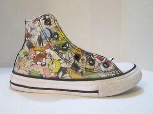 9718240f55fde4 Converse Chuck Taylor All Star Hi Top LOONEY TUNES Sneakers KIDS Sz ...