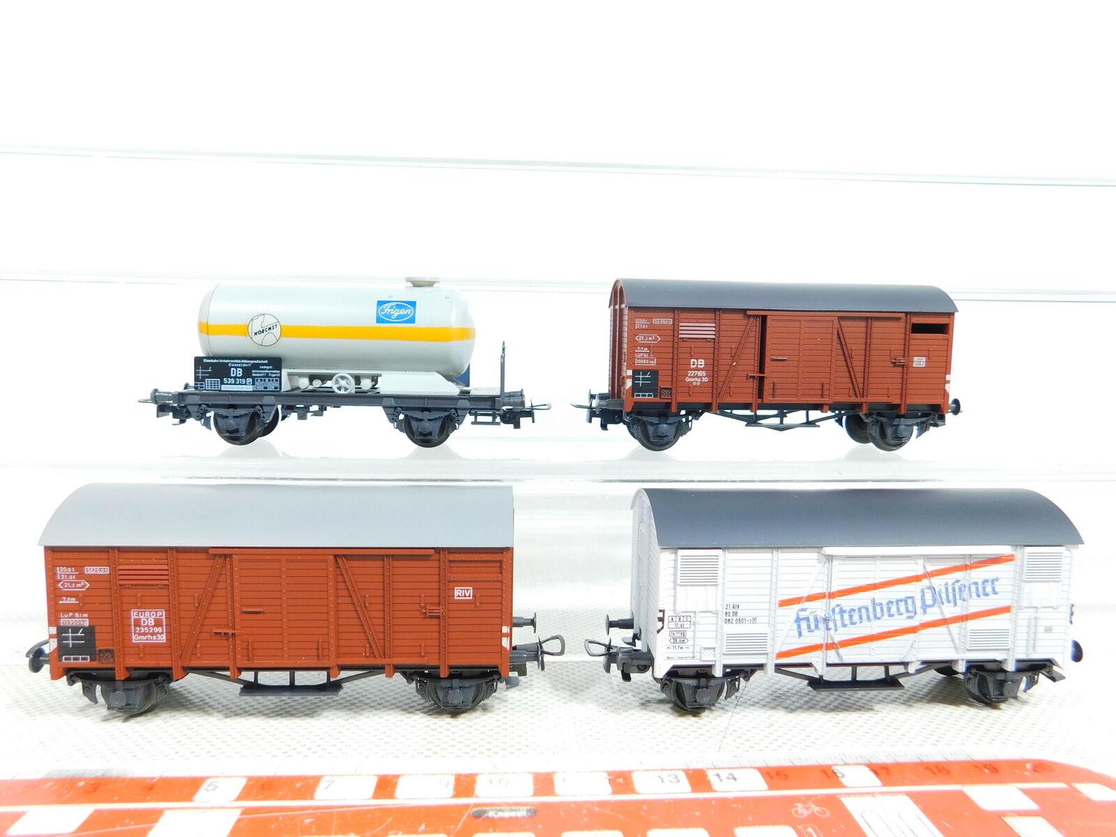 BX112-0, 5 x Liliput H0 Dc Freight Wagon Db  Maximum Frigen + Fürstenberg Etc.