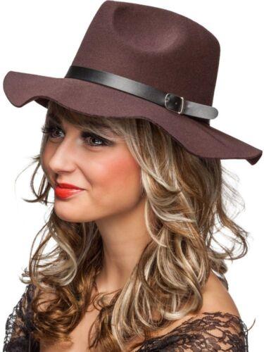 Damen Kostüm Zubehör Hut braun Karneval Fasching Orl