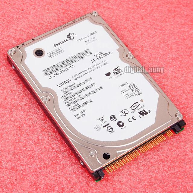 """Seagate 60GB ST960815A Hard Disk Drive HDD 2.5"""" 8MB 5400RPM PATA Laptop disk"""