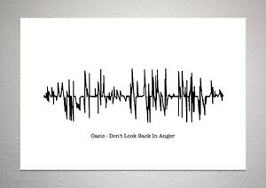 Oasis-Don-039-t-Look-Back-In-Anger-Sound-Wave-Print-Poster-Art